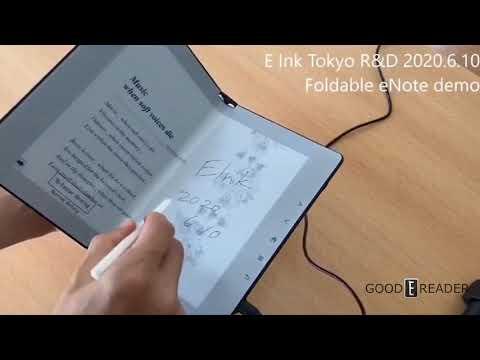 Foldable eInk Notetaking WACOM e-Reader Tokyo 2020