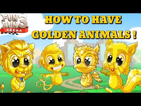 • Fun Run 3 Arena • HOW TO HAVE GOLDEN ANIMALS !
