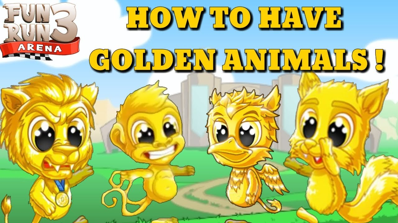 Fun Run 3 Arena How To Have Golden Animals