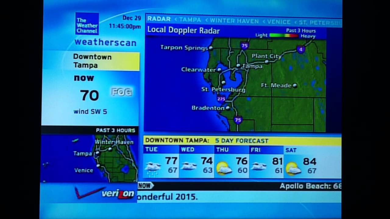 Foggy Tampa Bay Weatherscan With NOAA Weather Radio - Tampa bay doppler weather