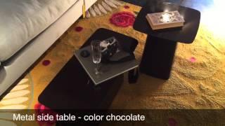 Metal Side Table De Vitra En Color Chocolate