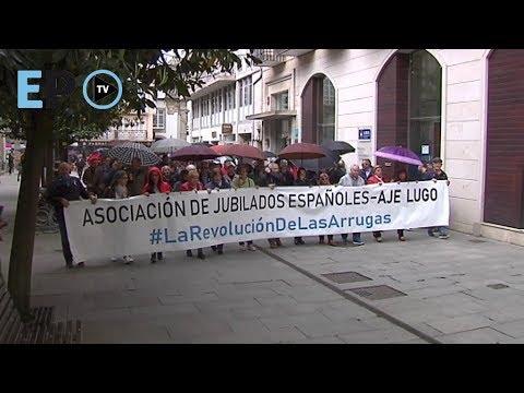 Los jubilados salen de nuevo a la calle en Lugo para exigir unas pensiones dignas