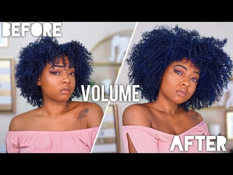 Stretch Natural Hair & Curls For Volume and Length | Get BIG Hair Twist Out, Perm Rods + Wash & Go