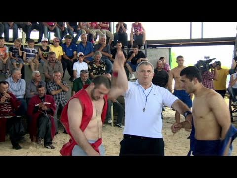 Folk wrestling Georgian style