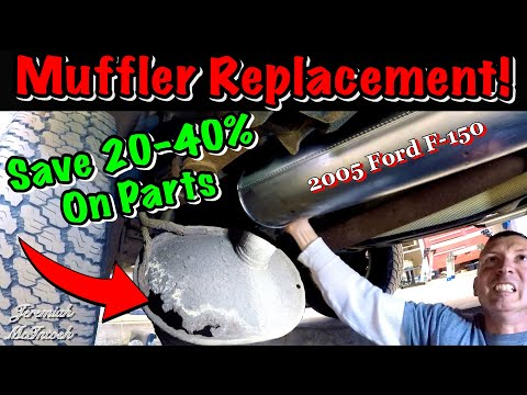 Save Money Fun Muffler Replacement On Ford F 150 How To Save Easily Youtube