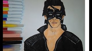 Coloring pages Krrish Super Hero coloring movie  for kids