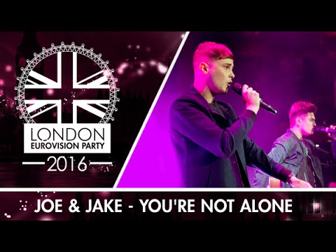 Joe & Jake - You're Not Alone (UK) | LIVE | London Eurovision Party 2016