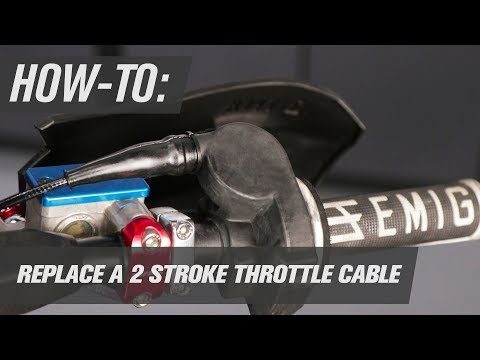 How To Replace a 2 Stroke Throttle Cable