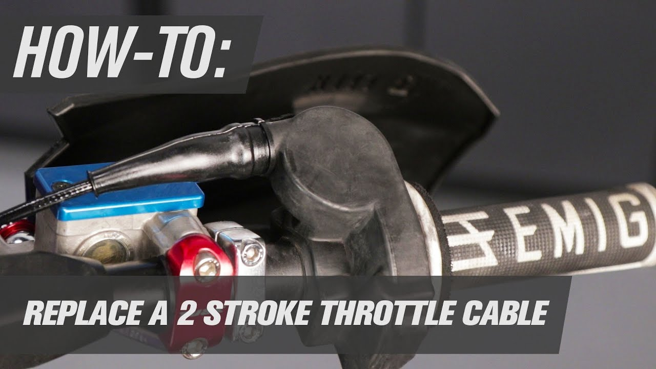 how to replace a 2 stroke throttle cable [ 1280 x 720 Pixel ]