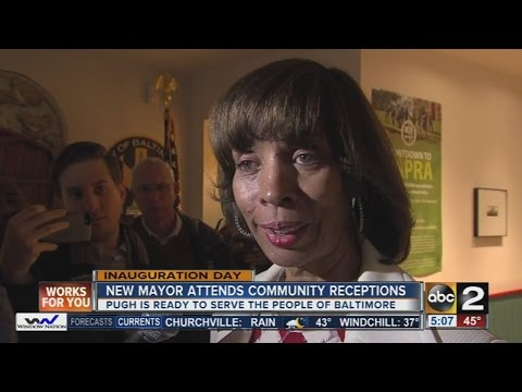 New Baltimore Mayor Catherine Pugh attends community receptions
