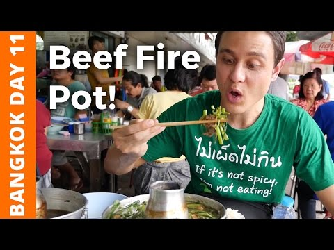 Flaming Thai Beef Soup & Bike Ride at Bang Krachao (喔氞覆喔囙竵喔`赴喙�喔堗箟喔�) - Bangkok Day 11
