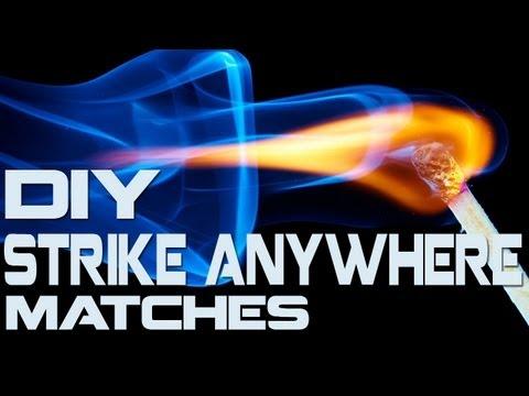 How To Make: Strike Anywhere Matches!