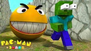 Monster School : HORROR PACMAN & MINION RUSH Challenge - Minecraft Animation