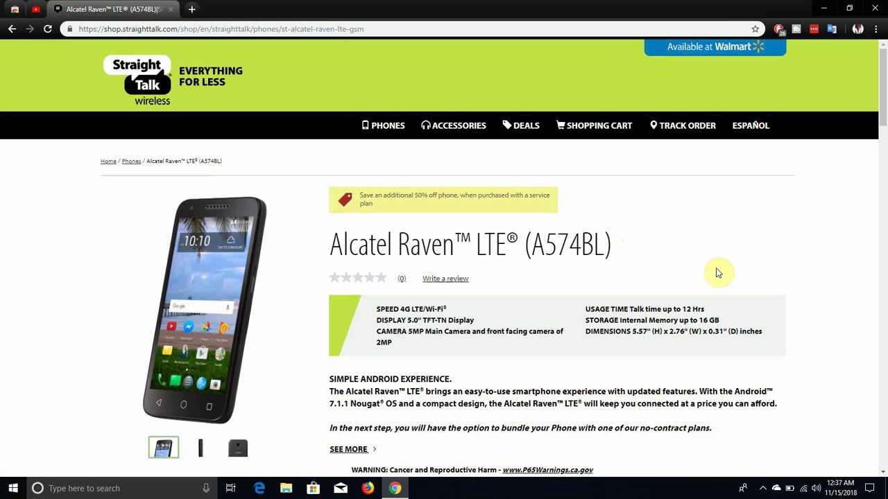 Alcatel Raven™ (A574BL) | Straight Talk