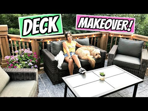 DECORATING OUR DECK! NEW FURNITURE AND OUTDOOR DECOR!
