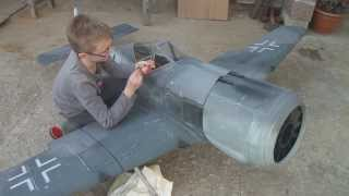 FW 190 RC cal 6mm MG 131 first shoot test