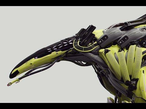 Atom-Eater Robot - 3DModelling/Design Timelapse