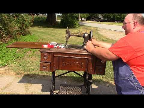 leather treadle sewing machine belt installation tutorial