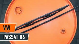 Cómo y cuándo cambiar Escobillas de parabrisas traseras y delanteras VW PASSAT Variant (3C5): vídeo tutorial