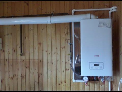 Как установить котел и дымоход в деревянном доме