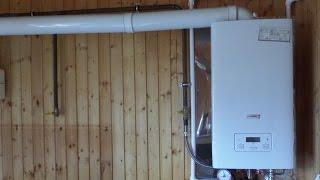 Как установить котел и дымоход в деревянном доме(Видео о том, как правильно установить газовый навесной котел и проложить дымоход в деревянном доме. Наш..., 2015-09-06T18:33:54.000Z)