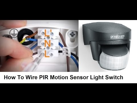 how to wire pir motion sensor light switch - youtube  youtube