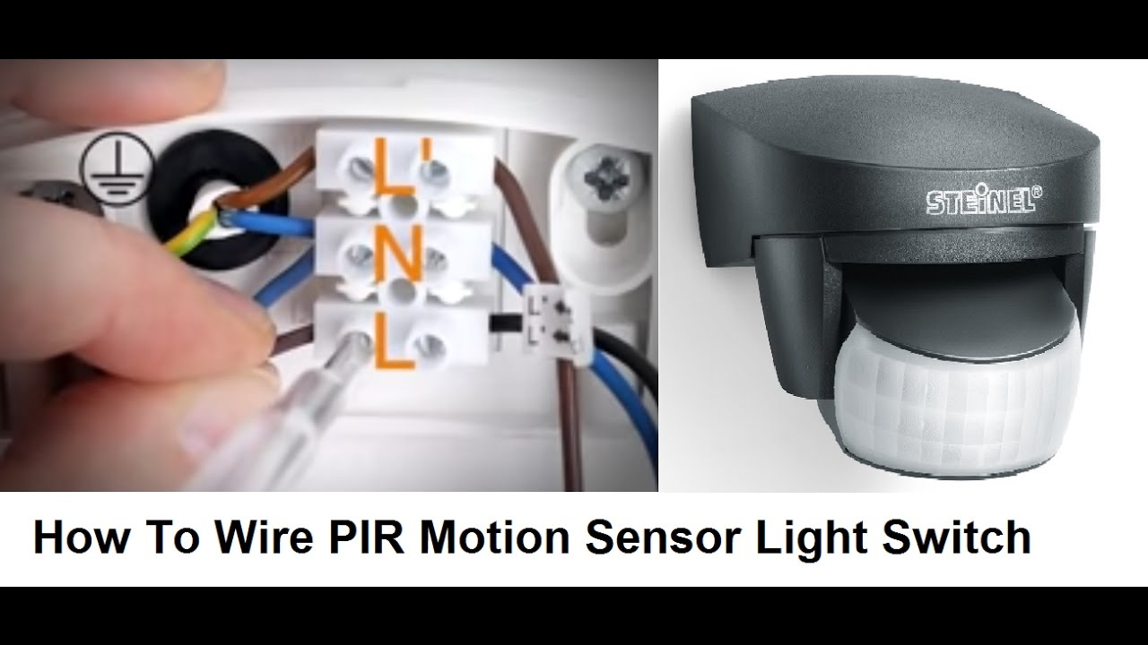 How To Wire Pir Motion Sensor Light Switch Youtube Wiring A Deta
