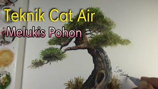 Melukis Pohon Teknik Cat Air# Painting tree Watercolor Techniques