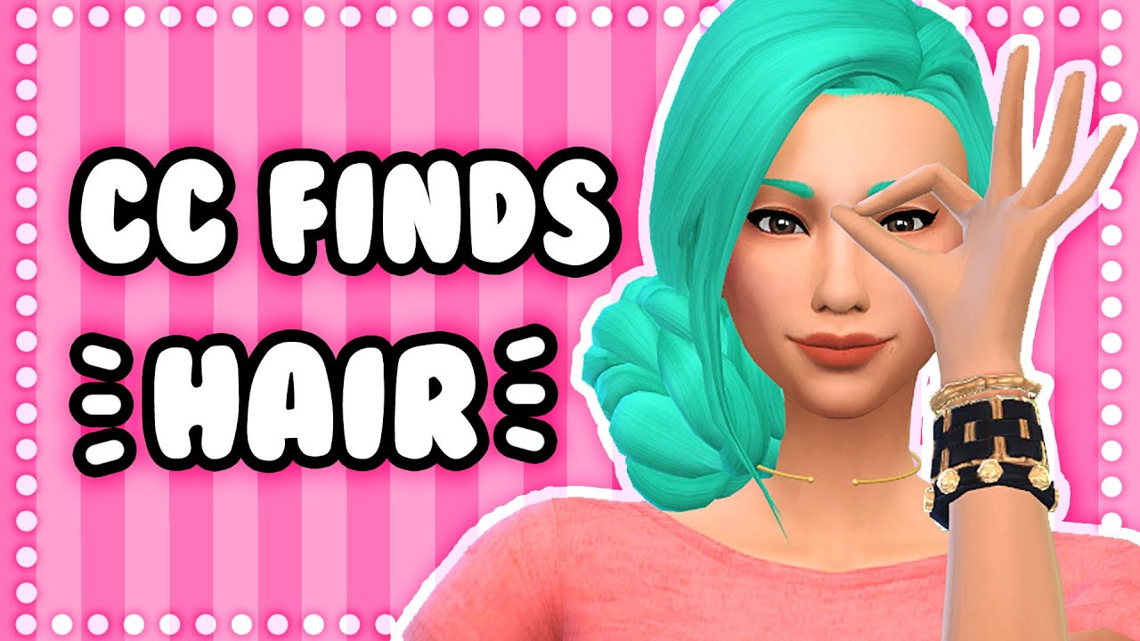 The Sims 4: CC Finds #6 | Hair // Maxis Match, Children's, Men's hair