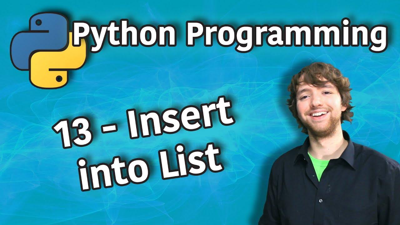 Python Programming Tutorial - Insert into List