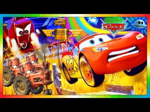 CARS ESPAÑOL - La Película Niños - Disney Movie - El Rayo McQueen & Mate Mater & Frank & Tractor 4K