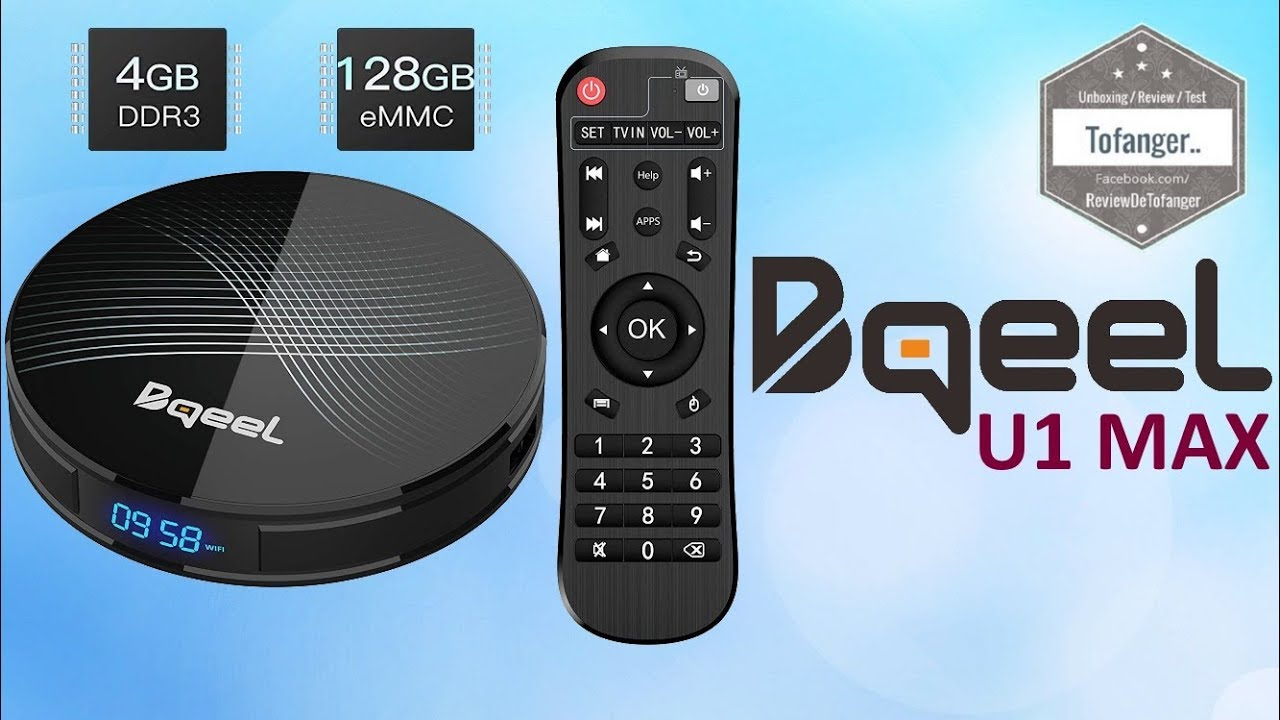 Bqeel U1 MAX Android TV Box - 4GB Ram + 128GB Storage - OTT TV BOX -  Unboxing