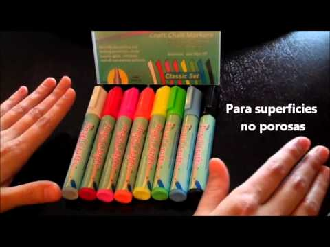 Como usar los marcadores de gis liquido o tiza liquida de - Que pintura utilizar para madera ...