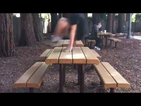 Parkour in Menlo park  11 Year Olds