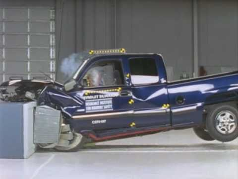 2001 Chevrolet Silverado 1500 Moderate Overlap Iihs Crash Test