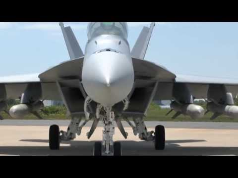 Boeing  F/A-18F Super Hornet Fighter Loaded With 4 AGM-84 Harpoon Block IC anti-ship missiles
