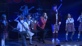 Melanie C and the cast of School Of Rock UK perform Wannabe