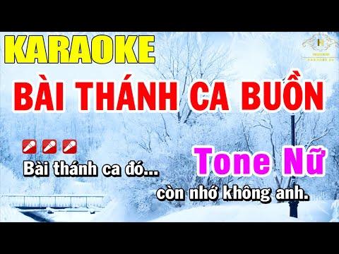 Bài Thánh Ca Buồn Karaoke Tone Nữ Nhạc Sống | Trọng Hiếu
