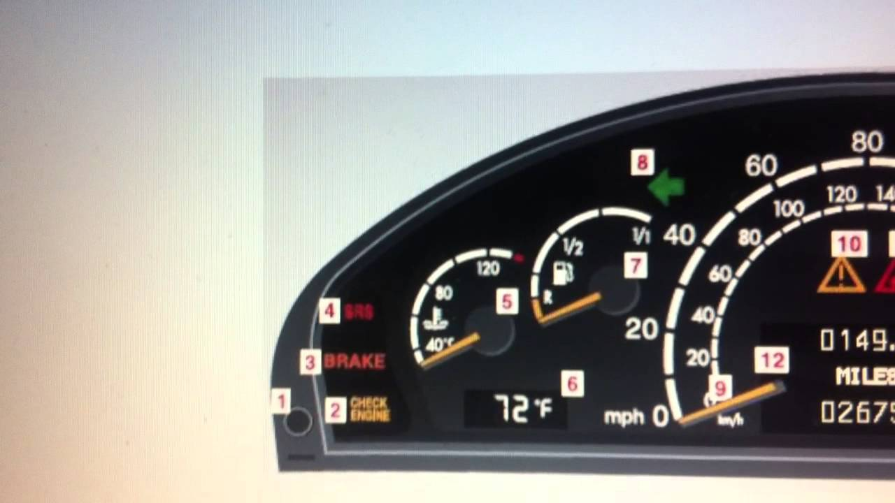 Mercedes s class w220 srs airbag warning light how to for Mercedes benz srs