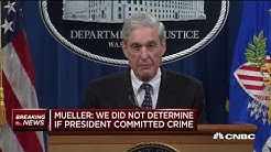 Mueller: We did not determine whether Trump committed a crime