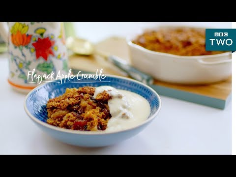 Flapjack Apple Crumble | Nadiya's British Food Adventure: Episode 6 - BBC Two