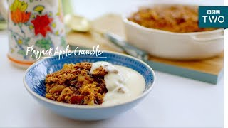 Flapjack Apple Crumble | Nadiya