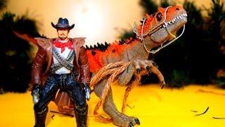 Динозавры. Охотник на динозавров. Мультик для детей. Игрушки