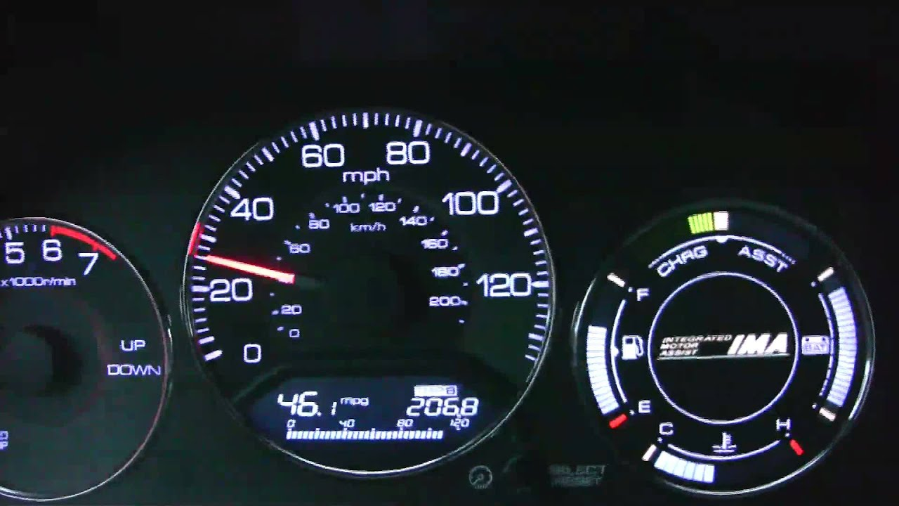 Gen 1 Honda Civic Hybrid 5 Speed Dash Operation Youtube