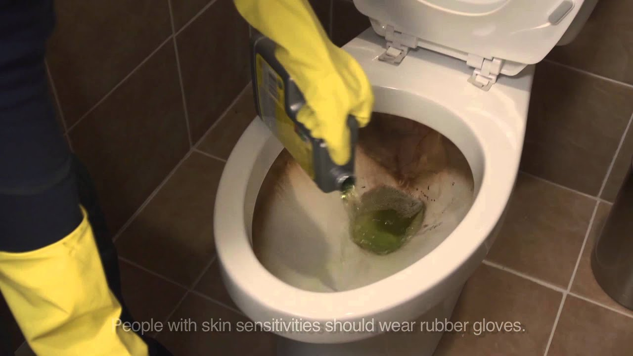 How to clean a toilet with CLR Calcium, Lime & Rust Remover & CLR ...