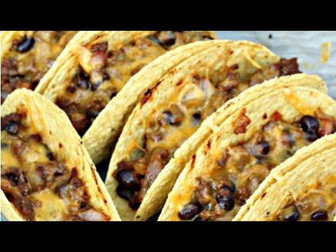Baked Vegetarian Tacos - VEGETARIAN - YouTube
