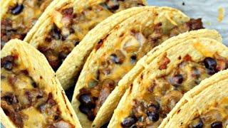 Baked Vegetarian Tacos - Vegetarian