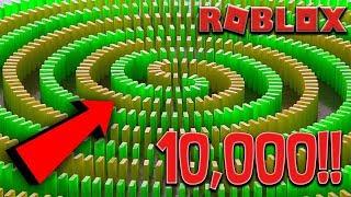 THE BIGGEST DOMINO EFFECT IN ROBLOX!! -10.000 DOMINO KOSTEK!