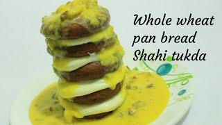 Shahi tukda recipe - Diwali sweets recipe - Whole wheat pan bread shahi tukra - Diwali sweets