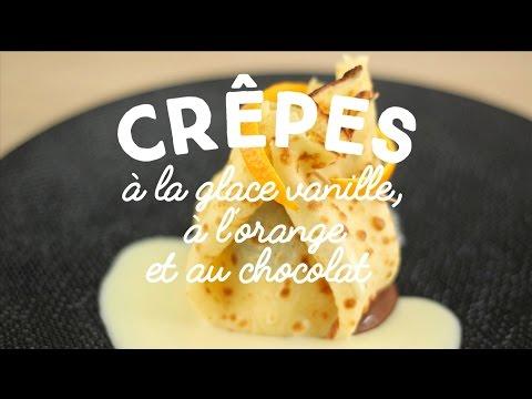 crêpe-à-la-glace-vanille,-orange-et-chocolat---cuisineaz